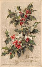 xms001955 - Christmas Post Card Old Vintage Antique Xmas Postcard