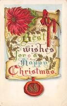 xms001959 - Christmas Post Card Old Vintage Antique Xmas Postcard