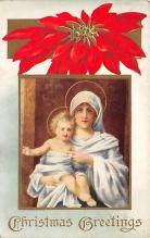 xms001961 - Christmas Post Card Old Vintage Antique Xmas Postcard