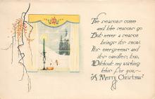 xms001965 - Christmas Post Card Old Vintage Antique Xmas Postcard