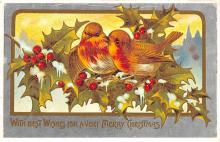 xms001967 - Christmas Post Card Old Vintage Antique Xmas Postcard