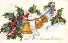 xms001983 - Christmas Post Card Old Vintage Antique Xmas Postcard