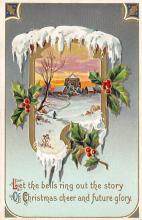 xms001985 - Christmas Post Card Old Vintage Antique Xmas Postcard