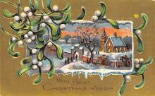 xms001989 - Christmas Post Card Old Vintage Antique Xmas Postcard