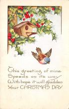 xms001991 - Christmas Post Card Old Vintage Antique Xmas Postcard
