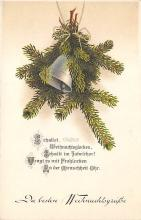 xms001995 - Christmas Post Card Old Vintage Antique Xmas Postcard