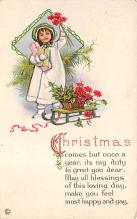 xms001997 - Christmas Post Card Old Vintage Antique Xmas Postcard