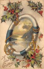 xms002001 - Christmas Postcard Antique Xmas Post Card