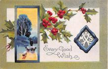 xms002017 - Christmas Postcard Antique Xmas Post Card