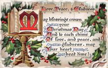 xms002027 - Christmas Postcard Antique Xmas Post Card