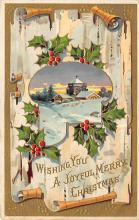 xms002039 - Christmas Postcard Antique Xmas Post Card