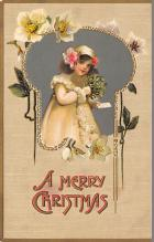 xms002041 - Christmas Postcard Antique Xmas Post Card