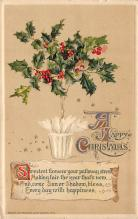 xms002045 - Christmas Postcard Antique Xmas Post Card
