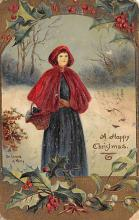 xms002053 - Christmas Postcard Antique Xmas Post Card