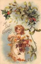 xms002059 - Christmas Postcard Antique Xmas Post Card