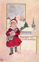 xms002119 - Christmas Postcard Antique Xmas Post Card