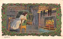 xms002137 - Christmas Postcard Antique Xmas Post Card