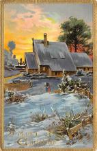 xms002139 - Christmas Postcard Antique Xmas Post Card
