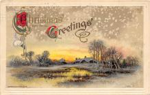 xms002153 - Christmas Postcard Antique Xmas Post Card