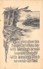 xms002155 - Christmas Postcard Antique Xmas Post Card