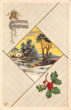 xms002163 - Christmas Postcard Antique Xmas Post Card