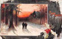 xms002169 - Christmas Postcard Antique Xmas Post Card