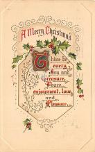 xms002205 - Christmas Postcard Antique Xmas Post Card
