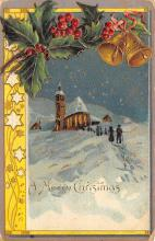 xms002213 - Christmas Postcard Antique Xmas Post Card