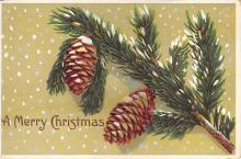 xms002215 - Christmas Postcard Antique Xmas Post Card