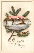 xms002229 - Christmas Postcard Antique Xmas Post Card