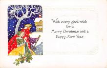 xms002265 - Christmas Postcard Antique Xmas Post Card