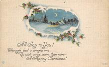 xms002267 - Christmas Postcard Antique Xmas Post Card
