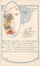 xms002273 - Christmas Postcard Antique Xmas Post Card