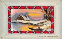 xms002283 - Christmas Postcard Antique Xmas Post Card