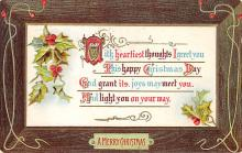 xms002285 - Christmas Postcard Antique Xmas Post Card