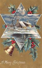 xms002291 - Christmas Postcard Antique Xmas Post Card