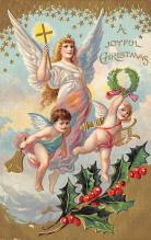 xms002297 - Christmas Postcard Antique Xmas Post Card