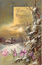 xms002319 - Christmas Postcard Antique Xmas Post Card