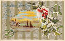 xms002325 - Christmas Postcard Antique Xmas Post Card