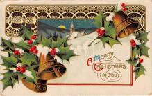 xms002329 - Christmas Postcard Antique Xmas Post Card