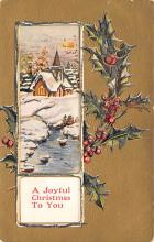 xms002347 - Christmas Postcard Antique Xmas Post Card