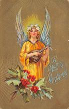 xms002349 - Christmas Postcard Antique Xmas Post Card