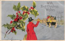 xms002425 - Christmas Post Card Antique Xmas Postcard