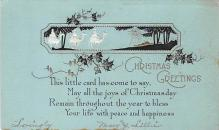 xms002433 - Christmas Post Card Antique Xmas Postcard