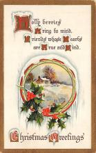 xms002447 - Christmas Post Card Antique Xmas Postcard
