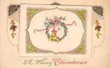 xms002453 - Christmas Post Card Antique Xmas Postcard
