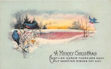 xms002461 - Christmas Post Card Antique Xmas Postcard