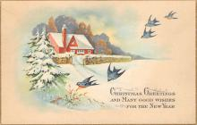 xms002463 - Christmas Post Card Antique Xmas Postcard