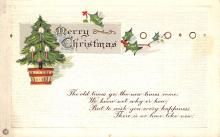 xms002465 - Christmas Post Card Antique Xmas Postcard