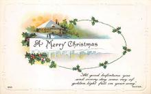 xms002467 - Christmas Post Card Antique Xmas Postcard